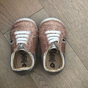 Old Soles rose Gold Glitter Sneakers